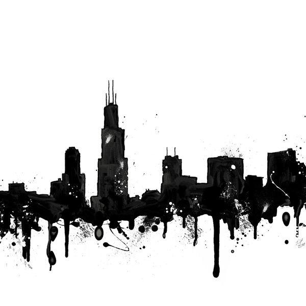 chicago skyline art - photo #37
