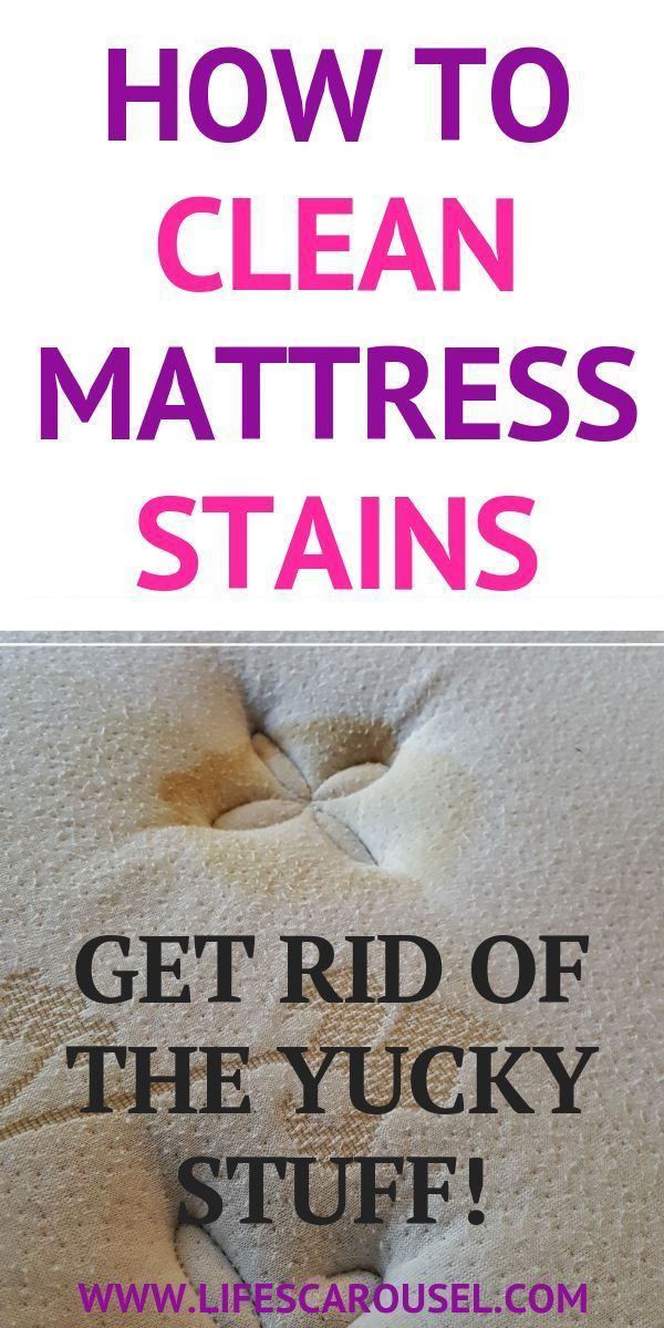 How to Clean Mattress Stains (Yes... we all have them