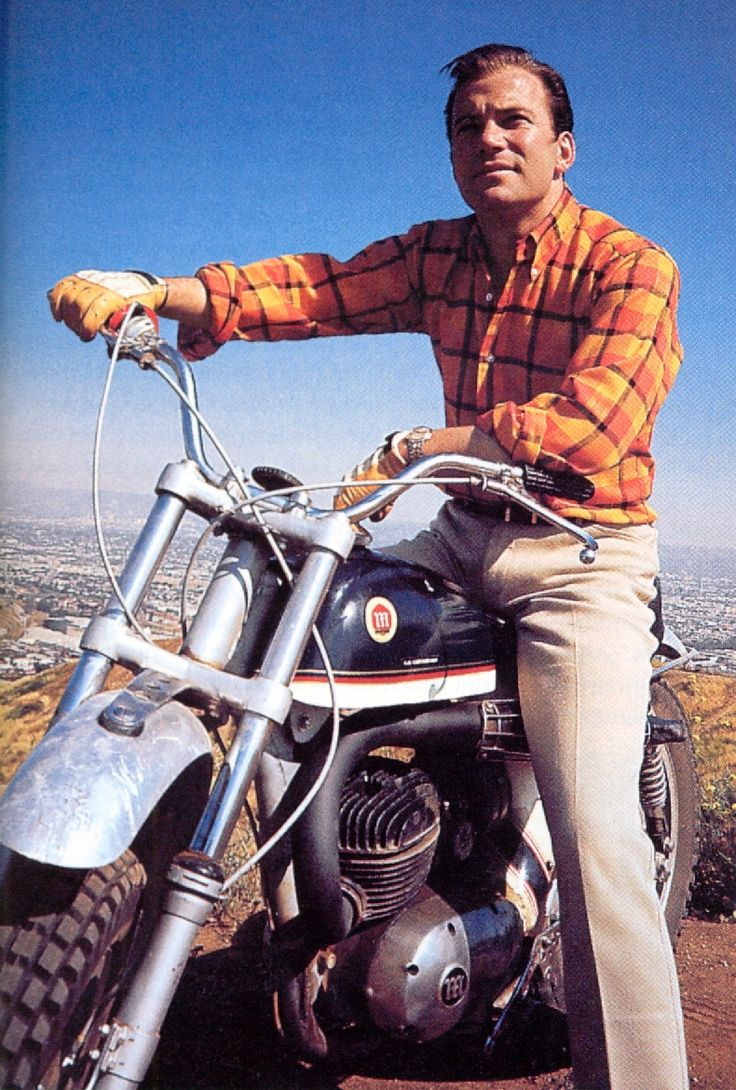 "William Shatner often spent his weekends riding his motorcycle in the desert, ""getting all banged and bruised up"" according to co-star Leonard Nimoy."