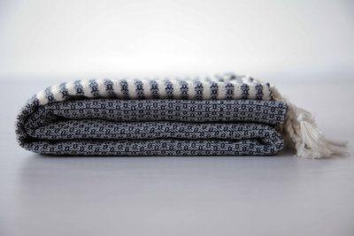 De SOHO navy. De perfecte hamamdoek voor hem en voor haar. Een heerlijke zachte hamamdoek. De SOHOlijn is erg fijn geweven, handgemaakt en 100% katoen. Bestel hem snel op www.theuppereast.nl voor maar E22,-.