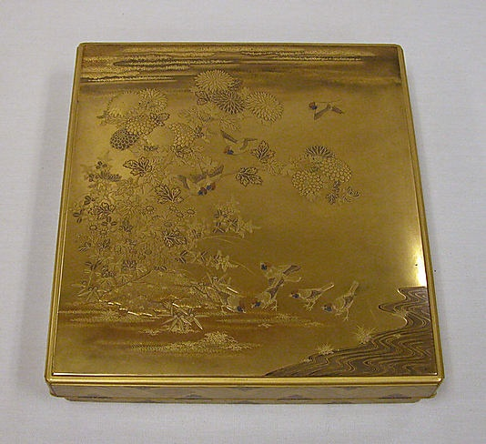Writing Box with Design of the Tatsuta River. Edo period (1615–1868) Date: 19th century