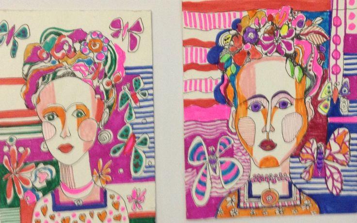 Frida Khalo, faces ilustration créate de by Eva Holz