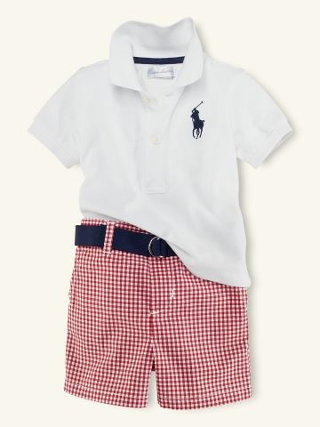 Gingham Short Set - Layette Outfits & Gift Sets - RalphLauren.com