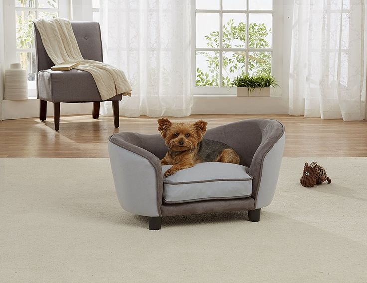 enchanted home pet ultra plush snuggle bed in honeycomb grey click image for