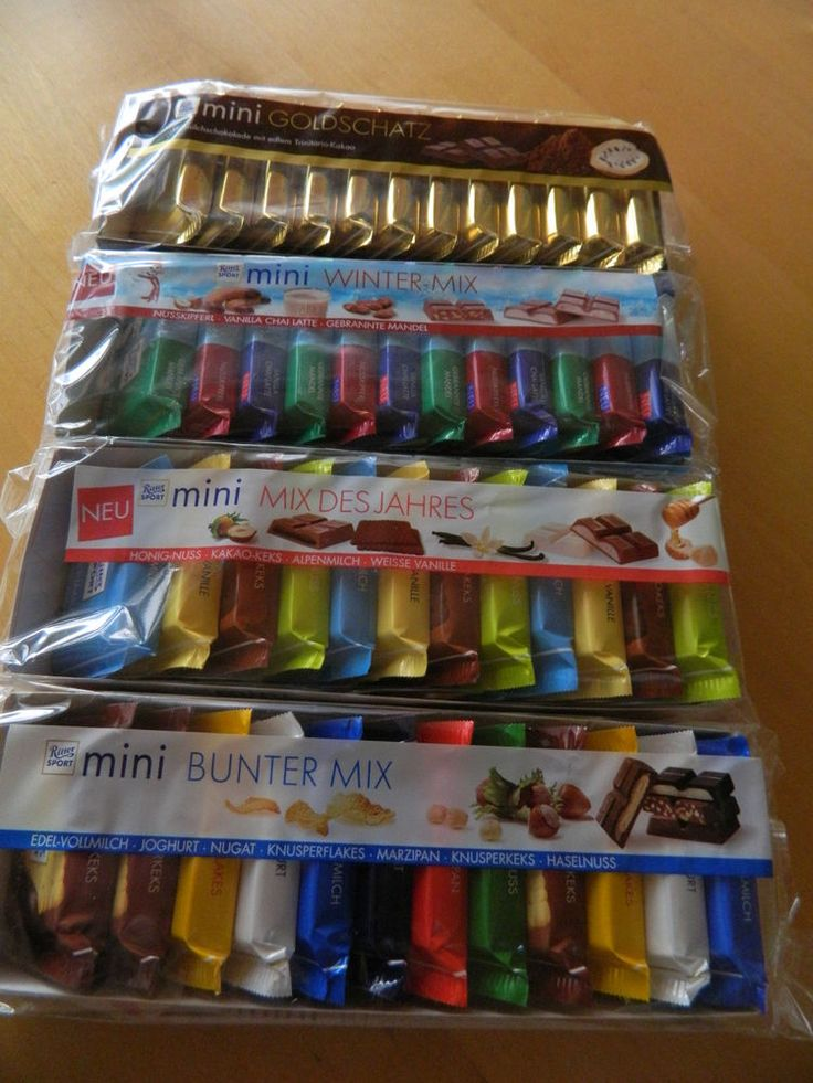 """48 x bars RITTER SPORT WINTER EDITION """"fresh from Germany"""" total 800g / 28,22 OZ #RITTERSPORTMINI"""