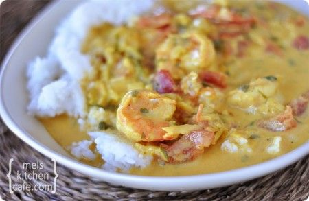 Coconut Shrimp Curry- use light coconut milk :)