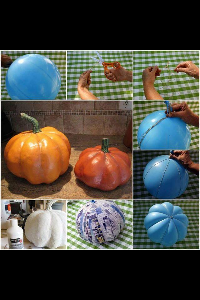 Halloween paper mashay pumpkin