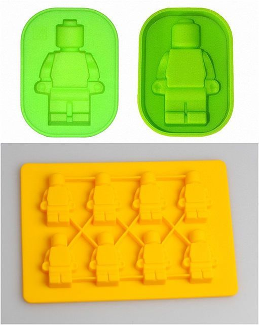 Lego Man Sharped Novelty Ice Cube Tray Chocolate Ice Mold Bar Party Drink Diy