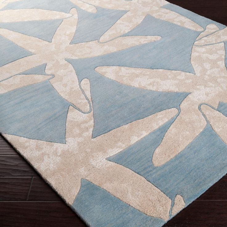 Starfish Hand Tufted Rug: Starfish Hand Tufted Rug: 3 Colors Hand-tufted from 100% New Zealand wool, this whimsical over-sized starfish pattern says nautical chic without overwhelming your space.