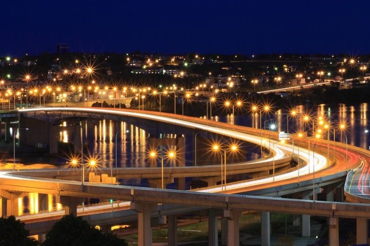 Photo taken by Dwight Henry.  Just love this pic of the harbor bridge in Saint John, NB.
