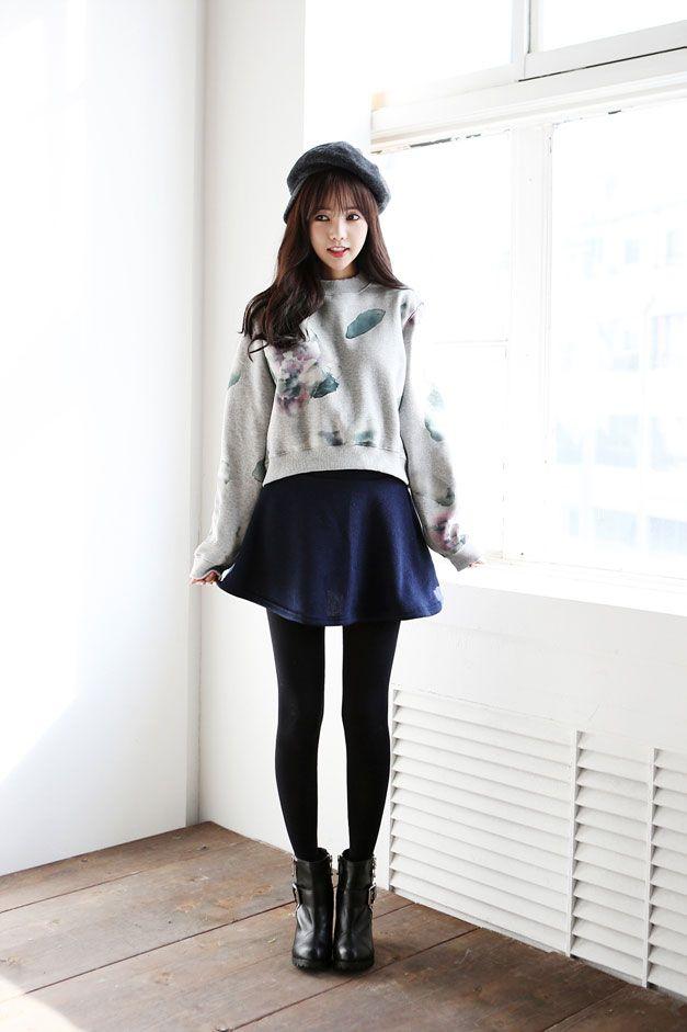 Flower Ink Sherpa-Lined Sweater