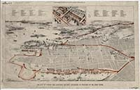 The city of Sydney and suburban railway extension, 1877.     Produced as a supplement to the Illustrated Sydney News, June 1877. It shows Sydney as bounded by Bradley's Head, Redfern, Pyrmont and Waverley, and shows building contractor John Young's plans for an eastern suburbs railway.