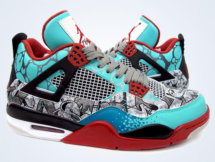 sneakers for cheap 74c7c bbf97 Online 2015 Nike Jordan 4 Cheap sale TIFFiti Customs by ...