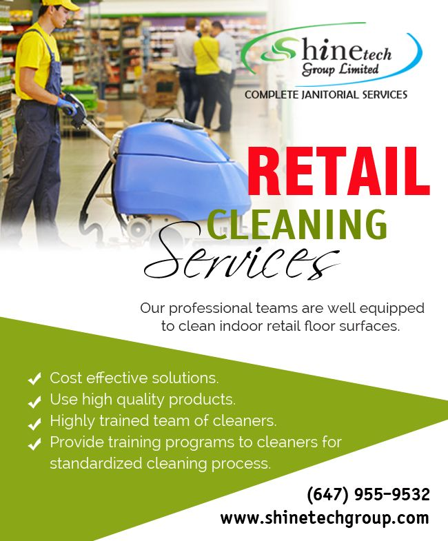 #RetailCleaningServices #Woodbridge Cleanliness is one thing which all of us long for.