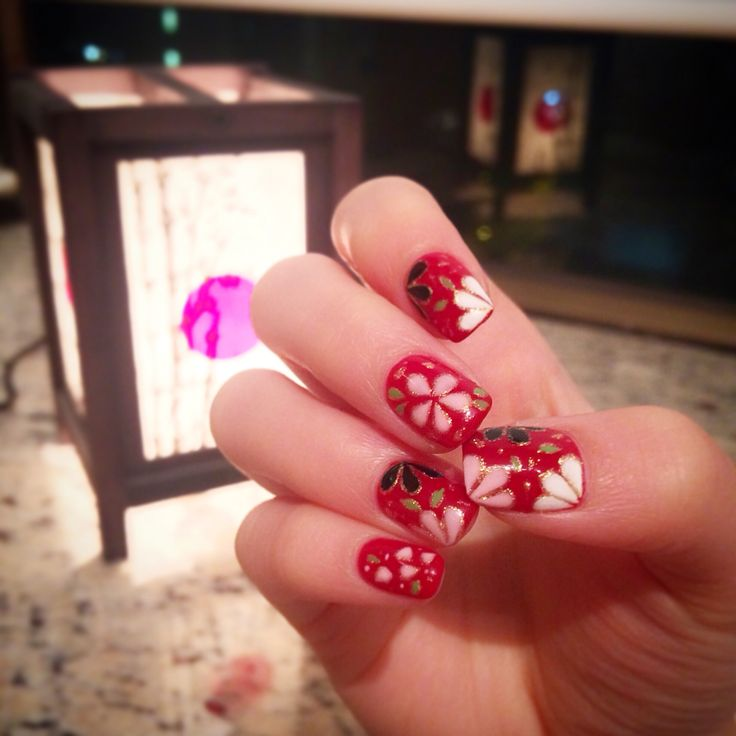Oriental style for oriental new year 2015  #nailart