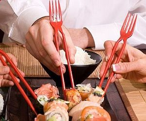 #Chopstick Forks ... what a wonderful idea!