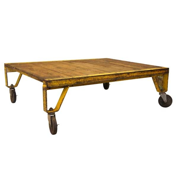 14 best industrial cart coffee table images on pinterest for Architectural salvage coffee table