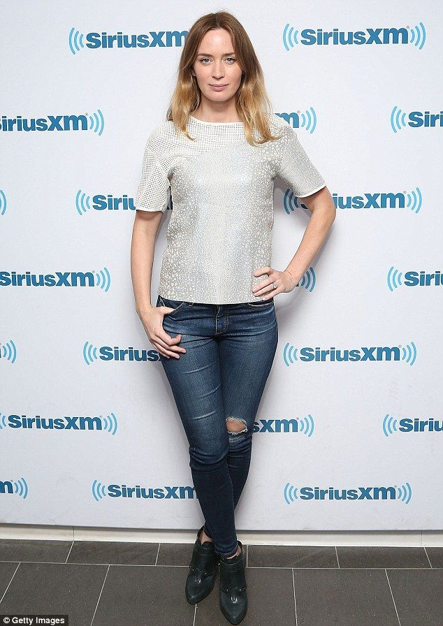 Interview: Emily Blunt talked to Howard Stern at the SiriusXM studios in New York on Wednesday