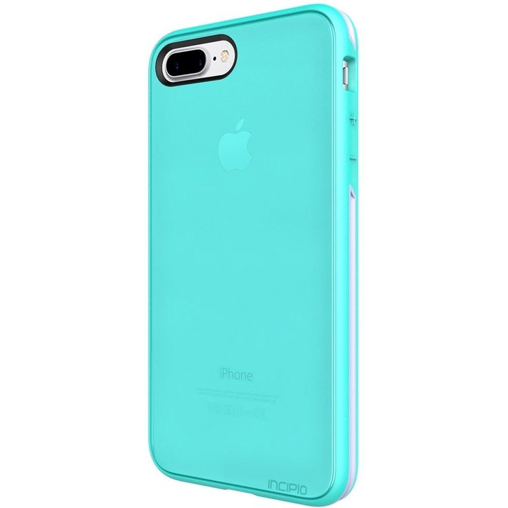 Incipio - Performance Slim Case for Apple® iPhone® 7 Plus - Turquoise/Dusty grape, IPH-1514-TDG