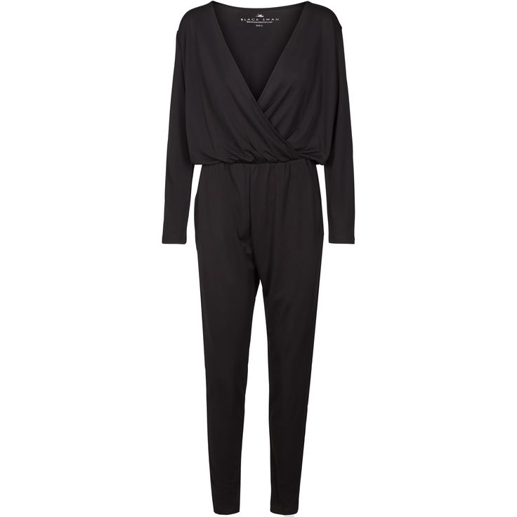 Joanna jumpsuit Lovely longsleeve jumpsuit. Elastic waist, soft material, wrap effect and lovely fit.  Black Swan Fashion SS17