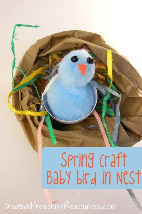 Bird craft shiluach hakan parsha pinterest for Baby bird nest craft