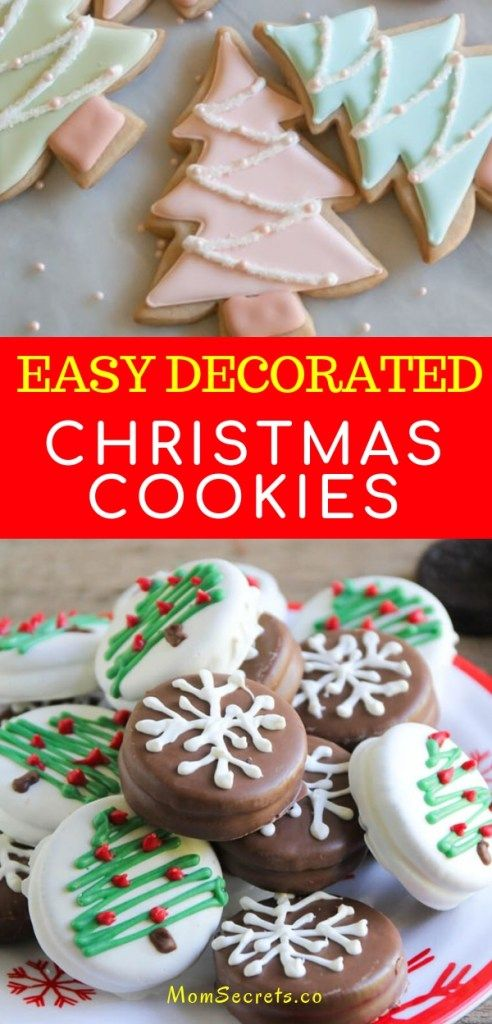 Are you looking for Christmas cookies recipes? I've got a collection of  great recipes you can try this year! Save 10 easy decorated cookie recipes. - Easy Decorated Christmas Cookies - 10 Best Cookie Recipes