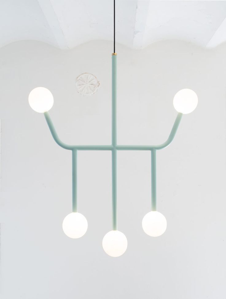 A Circuit Board-Inspired Chandelier
