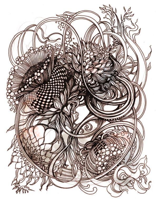 Antique Botanical by Irina Vinnik, via Behance