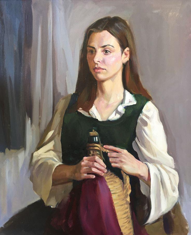 A portrait (oil on canvas painting) by oir student Juan Pablo Torres