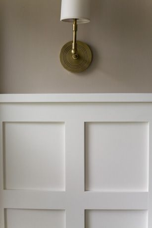 Wainscoting with squares