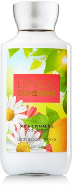 Love & Sunshine Body Lotion - Signature Collection - Bath & Body Works