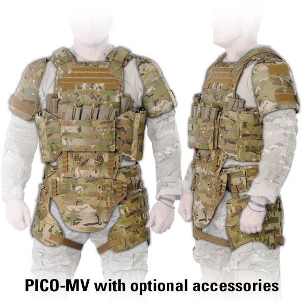 TYR Tactical - PICO-MV Plate Carrier is a good place to start for a vest and thigh rig combo. In black