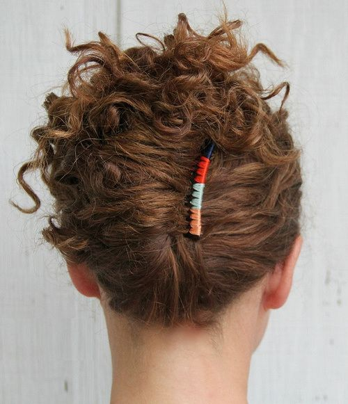 curly french twist updo