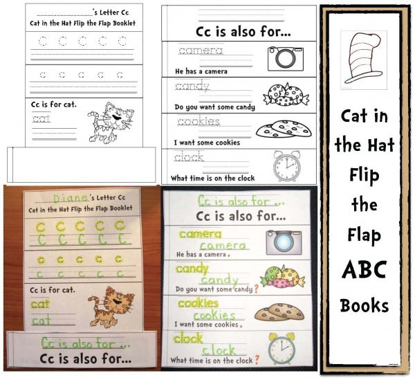 Dr. Seuss activities: FREE Cat in the Alphabet Hat Packet.  There are 26 individual Alphabet Hat booklets!  The packet includes upper and lowercase letter assessments and worksheets too.