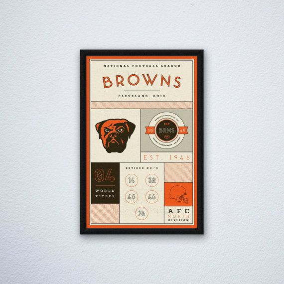 Cleveland Browns Stats Print by DesignsByEJB on Etsy