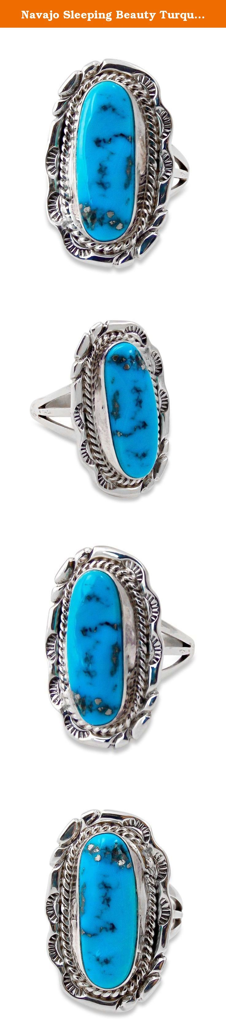 Navajo Sleeping Beauty Turquoise Ring Size 7.5. This ...
