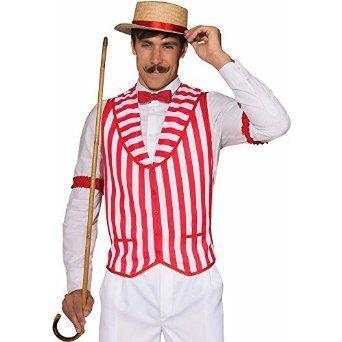 Amazon.com: Mens Patriotic Barber Shop Quartet Costume Red and White Vest: Clothing