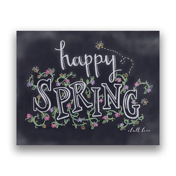 This whimsical print is perfect for wishing that each day blooms with happiness. The bees are now buzzing and the flowers are in bloom, so celebrate the Spring with the perfect chalkboard print. This print is created by taking a high resolution picture of the actual chalkboard hand drawn by