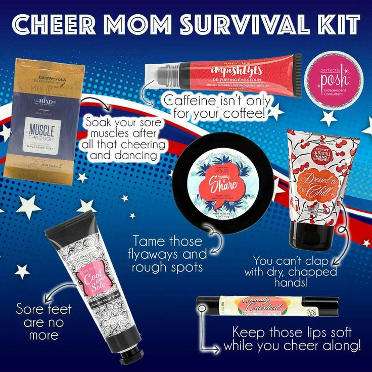 Perfectly Posh cheer mom survival kit. Tap the image to shop.