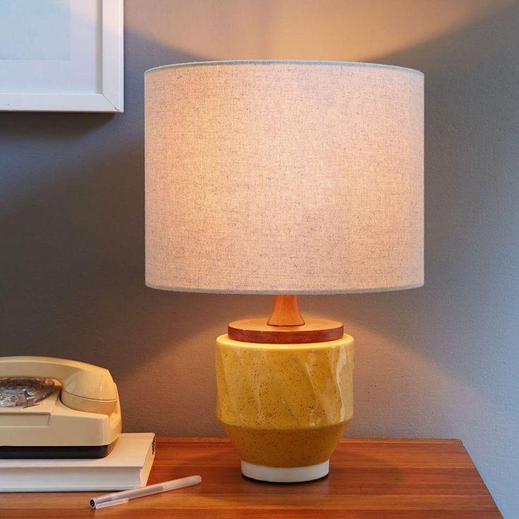 Roar + Rabbit Ripple Ceramic Table Lamp - Yellow
