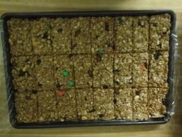 No-Bake Rice Krispies Peanut Butter Granola Bars (Lower-Fat)