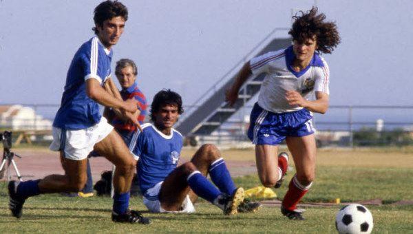 Le 11 octobre 1980, la France s'impose 7 buts à 0 face à Chypre au stade Tsirion de Limassol dans le cadre des éliminatoires de la Coupe du Monde 1982.