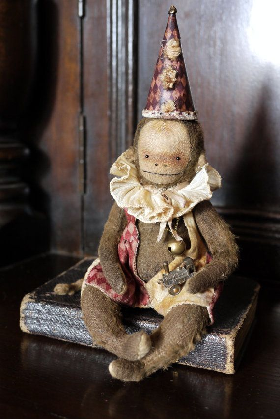 Vintage Style Monkey Toy Bambi 5.5 by KatyaPanayisArtDolls on Etsy