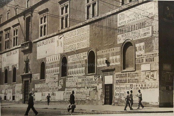 Foto storiche di Roma - Palazzo Venezia. Costituente e Referendum Anno: 2 giugno 1946