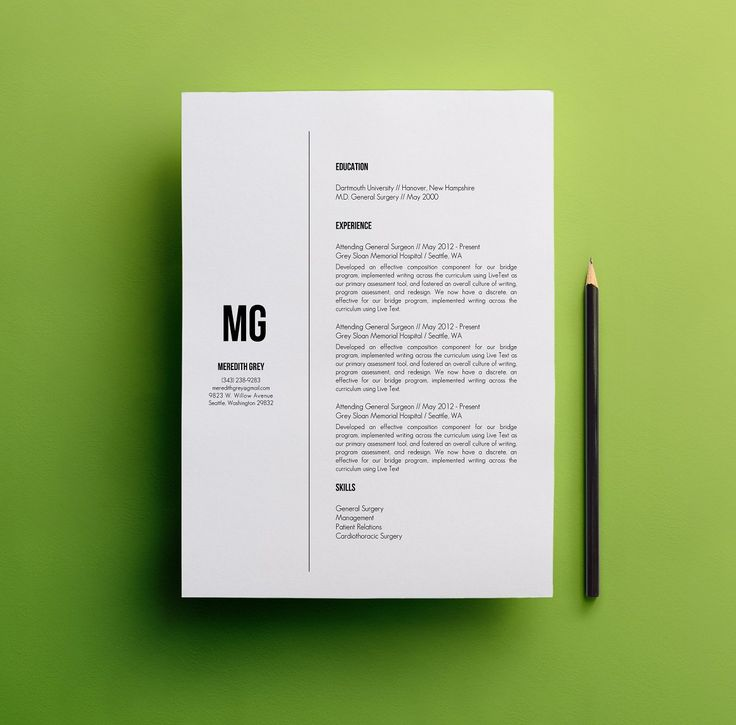 70 Best Resume & Cover Letters Images On Pinterest | Cv Template