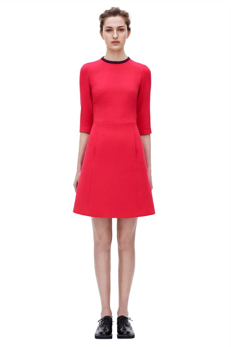 3D Crew Neck Dress from Pre Autumn Winter 2014 Victoria, Victoria Beckham collection. #BoFCareers #outfit #style #fashion
