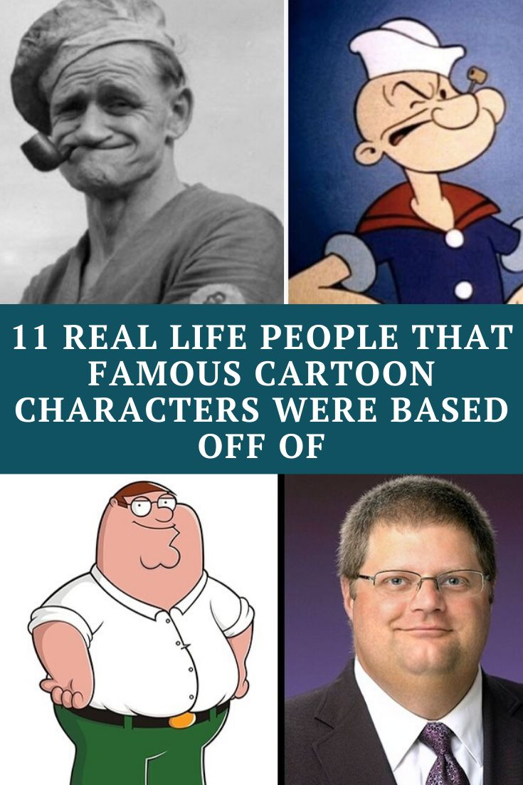 11 Real Life People That Famous Cartoon Characters Were ...