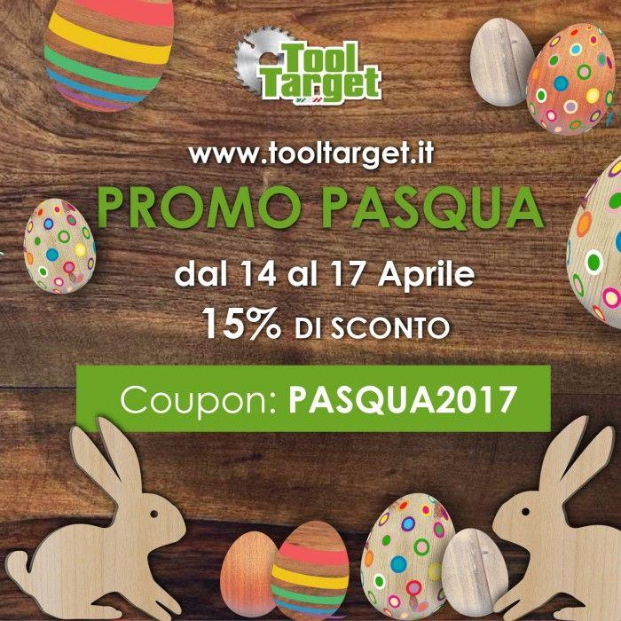 Pasqua su Tooltarget: 15% di sconto su tutto il catalogo dal 14 al 17 Aprile #pasqua #tooltarget #pasqua2017