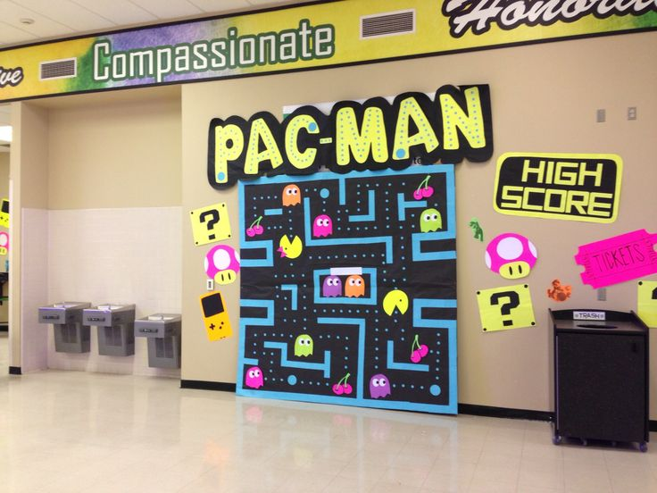 Video Game themed dance decorations: Pac-Man