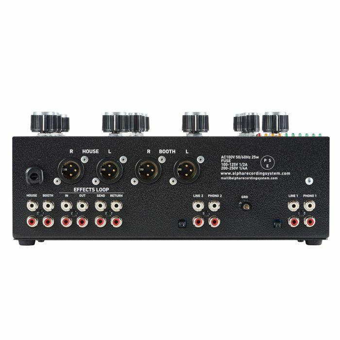 Alpha Recording System ARS Model 1000 Rotary Tabletop DJ Mixer (black)   Juno Records Alpha Recording System ARS Model 1000 Rotary Tabletop DJ Mixer